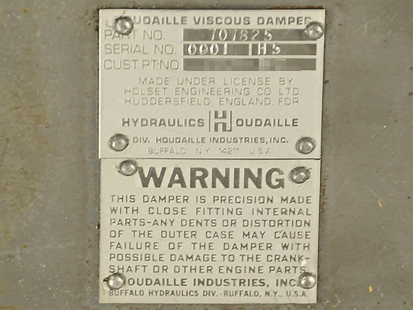 Houdaille viscous damper stamping