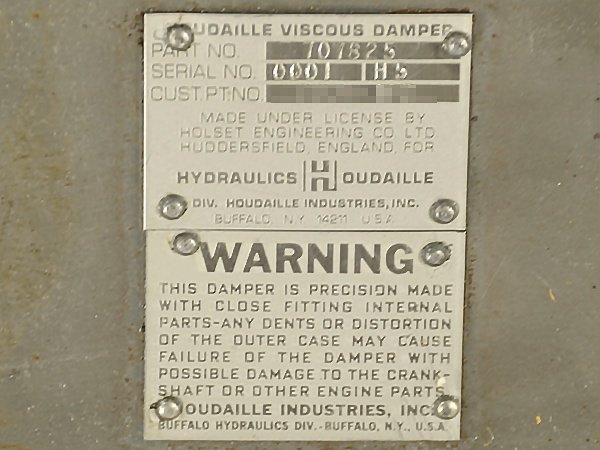 Houdaille viscous damper stamping